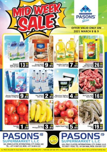 UAE - Dubai Pasons Supermarkets & Hypermarkets offers in D4D Online. Midweek Sale. . Till 9th March