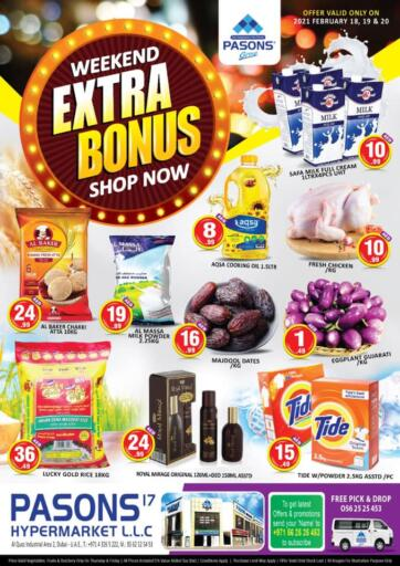 UAE - Dubai Pasons Supermarkets & Hypermarkets offers in D4D Online. Al Qouz, Industrial Area 2. . Till 20th February
