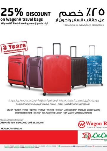 Bahrain LuLu Hypermarket offers in D4D Online. 25% Discount On WagonR Traval Bags. . Till 29th January