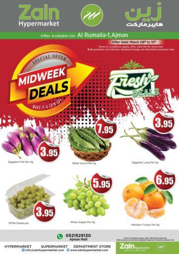 UAE - Sharjah / Ajman Zain Hypermarket offers in D4D Online. Midweek Deals @ Al Rumaila. . Till 10th March
