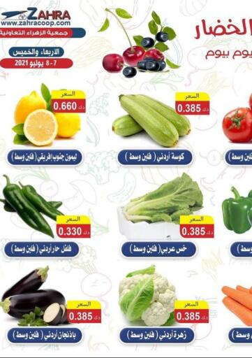 Kuwait ZAHRA COOPERATIVE SOCIETY offers in D4D Online. Fruits And Vegetable Offer. . Till 8th July