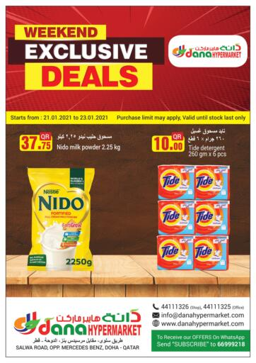 Qatar - Doha  Dana Hypermarket offers in D4D Online. Weekend Exclusive Deals. . Till 23rd January