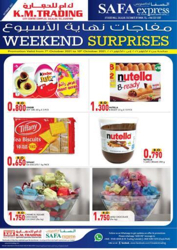 Oman - Salalah KM Trading  offers in D4D Online. Weekend Surprises!. . Till 10th October