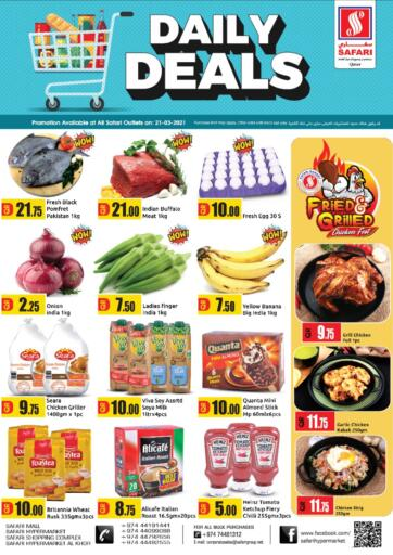 Qatar - Al Wakra Safari Hypermarket offers in D4D Online. Daily Deals. . Only On 21st March