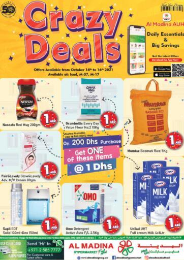 UAE - Abu Dhabi Al Madina Hypermarket offers in D4D Online. Crazy Deals @ Icad , M37, M17. . Till 16th October