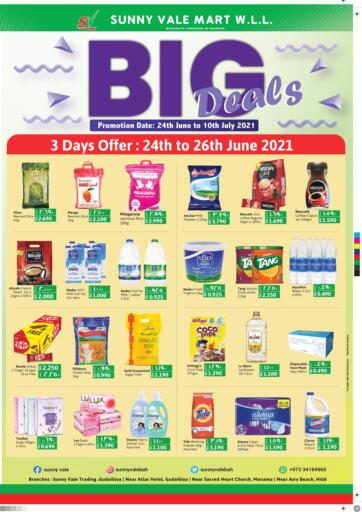 Bahrain Sunny Vale offers in D4D Online. Big Deals. Big Deals @ Sunny Vale! Get Groceries, Health & Beauty Products, Frozen foods at reduced prices before 10th July. Happy Shopping!. Till 10th July
