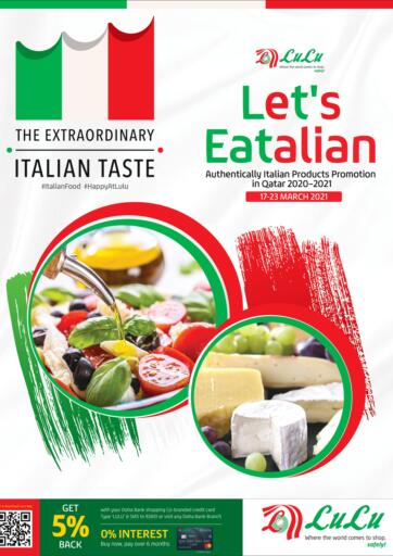 Qatar - Doha LuLu Hypermarket offers in D4D Online. Let's Eatalian. Get your favorites on  Let's Eatalian offers from the Lulu Hypermarket . Take advantage of this offer .Offers Are Valid Till 23rd March. Happy Shopping!. Till 23rd March