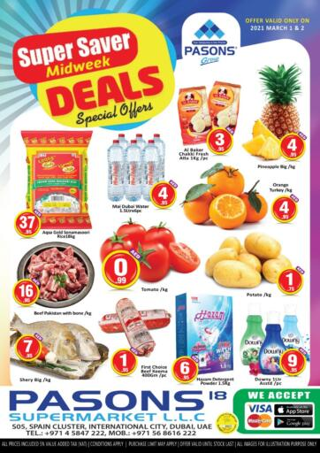 UAE - Dubai Pasons Supermarkets & Hypermarkets offers in D4D Online. Super Saver. . Till 2nd February