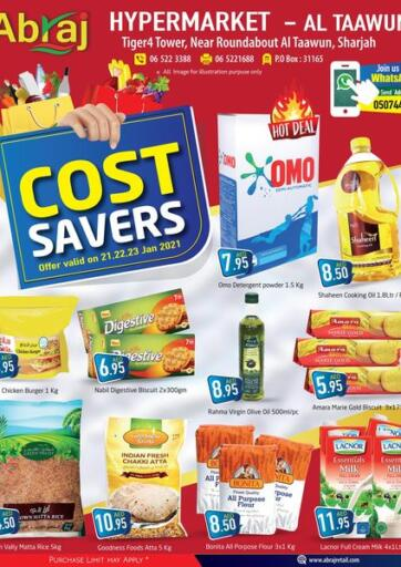 UAE - Sharjah / Ajman Abraj Hypermarket offers in D4D Online. Cost Savers. . Till 23rd January