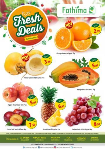 UAE - Abu Dhabi Fathima Hypermarkets & Supermarkets offers in D4D Online. Fresh Deals. . Only On 2nd February