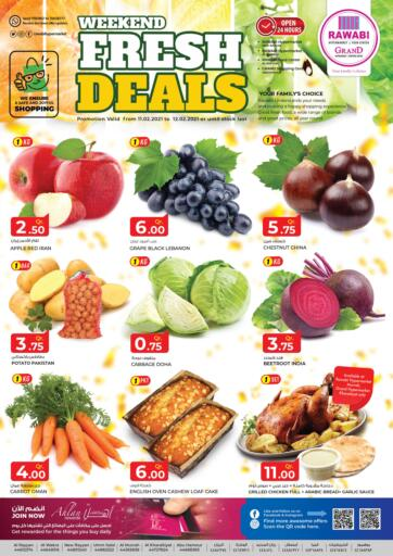 Qatar - Doha Rawabi Hypermarkets offers in D4D Online. Weekend Fresh Deals.  Weekend Fresh Deals Offers  Are Available At Rawabi Hypermarkets . Offers Are Valid Till 12th February.   Enjoy! . Till 12th February