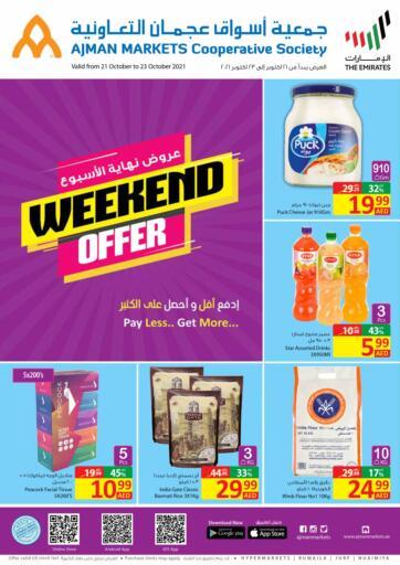 UAE - Sharjah / Ajman Ajman Markets Cooperative Society offers in D4D Online. Weekend Offfer. . Till 23rd October