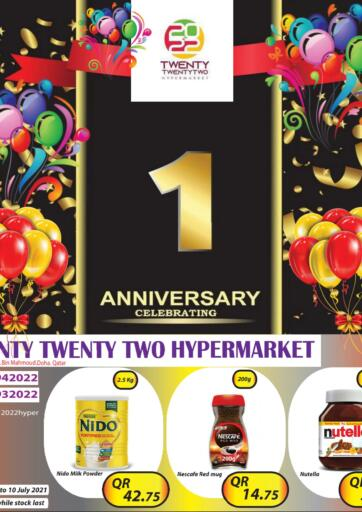 Qatar - Al-Shahaniya Twenty TwentyTwo offers in D4D Online. 1st Anniversary Celebrating. 1st Anniversary Celebrating Offers Are Available At Twenty TwentyTwo . Offers Are Valid Till  10th July. Hurry Up!. Till 10th July