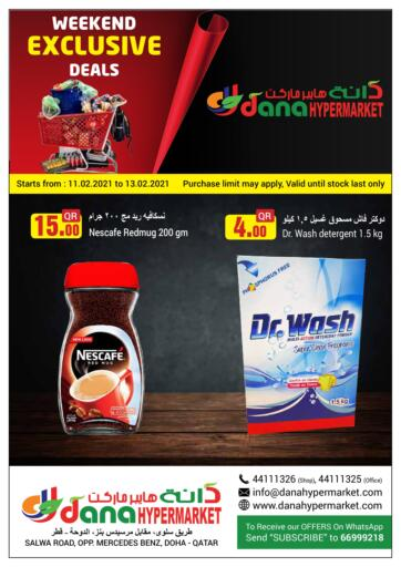 Qatar - Doha  Dana Hypermarket offers in D4D Online. Weekend Exclusive Deals. Weekend Exclusive Deals Offers Is Available At Dana Hypermarket. Get your Favourite Products at Best Prices. Offers Are Valid Till 13th February. Enjoy Shopping!!. Till 13th February