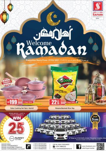 Qatar - Al Daayen Safari Hypermarket offers in D4D Online. Welcome Ramadan. Welcome Ramadan Offers Are Available At Safari Hypermarket. Offers Are Valid Till 02nd April. Enjoy Shopping!!. Till 2nd April