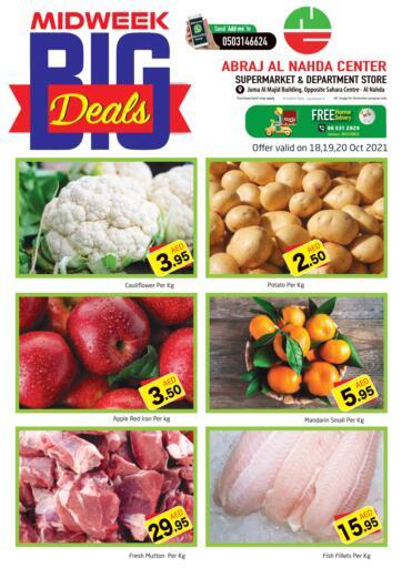 UAE - Sharjah / Ajman Abraj Hypermarket offers in D4D Online. Midweek Big Deals @ Nahda. . Till 20th October
