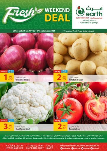 UAE - Abu Dhabi Earth Supermarket offers in D4D Online. Fresh Weekend Deals. Fresh Weekend Deals At Earth Supermarket Available On Fresh Fruits And Vegetables, etc .Offer Valid Till 18th September  2021.  Enjoy Shopping!!!  . Till 18th September