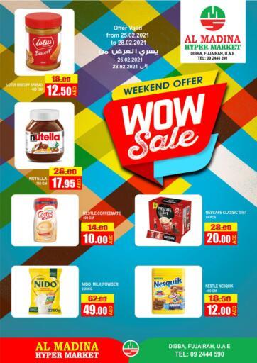 UAE - Fujairah Al Madina Supermarket LLC offers in D4D Online. Weekend Offer.