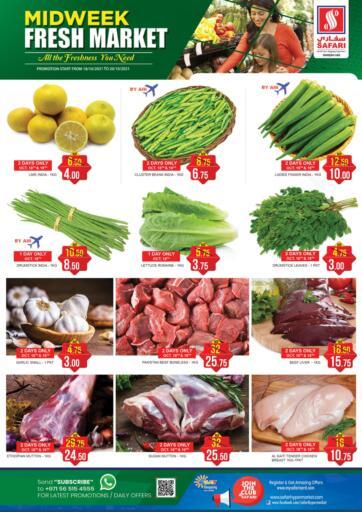 UAE - Sharjah / Ajman Safari Hypermarket  offers in D4D Online. Midweek Fresh Market Deals. . Till 20th October