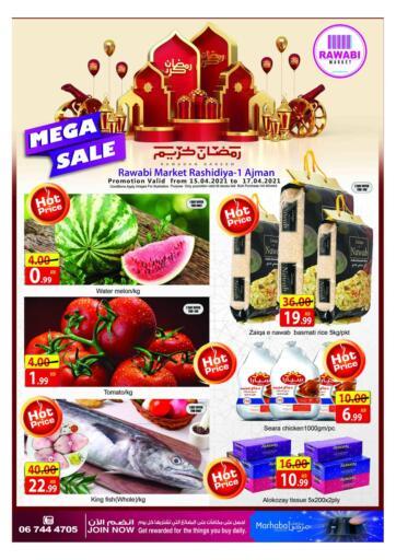 UAE - Sharjah / Ajman Rawabi Market Ajman offers in D4D Online. Mega Sale. . Till 17th April