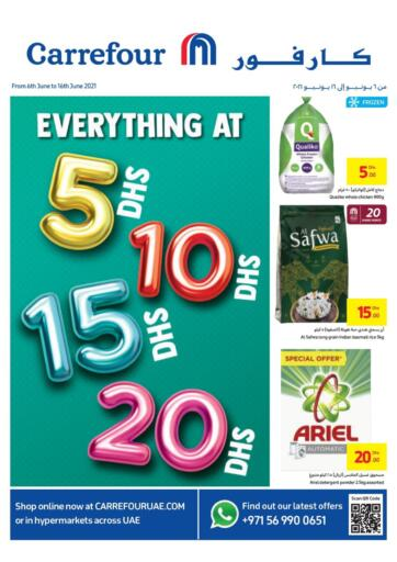 UAE - Dubai Carrefour UAE offers in D4D Online. Everything At 5 10 15 20 Dhs. . Till 16th June