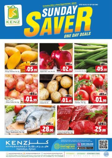 UAE - Sharjah / Ajman Kenz Hypermarket offers in D4D Online. Sunday Saver. . Only 26th september