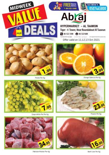 UAE - Sharjah / Ajman Abraj Hypermarket offers in D4D Online. Midweek Value Deals @ Al Taawun. . Till 13th October