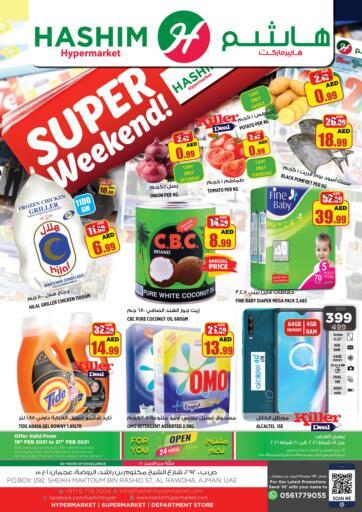 UAE - Sharjah / Ajman Hashim Hypermarket offers in D4D Online. Super Weekend. . Till 21st February