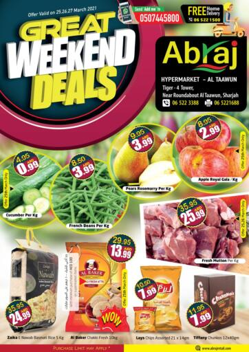 UAE - Sharjah / Ajman Abraj Hypermarket offers in D4D Online. Great Weekend Deals. . Till 27th March