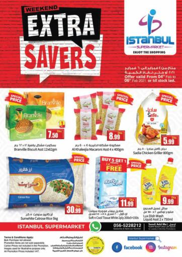 UAE - Dubai Istanbul Supermarket offers in D4D Online. Weekend Extra Savers. . Till 6th February