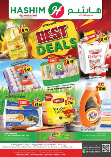 UAE - Sharjah / Ajman Hashim Hypermarket offers in D4D Online. Weekend Best Deals. Weekend Best Deals Are Waiting For You At Hashim Hypermarket.Get Your Products At Exiting Offer.Valid Till 25th July 2021.  Enjoy Shopping!!!. Till 25th July
