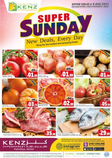UAE - Sharjah / Ajman Kenz Hypermarket offers in D4D Online. Super Sunday. . Only On 8th August