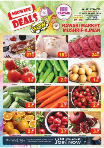 UAE - Sharjah / Ajman Rawabi Market Ajman offers in D4D Online. Midweek Deals. . Till 26th January