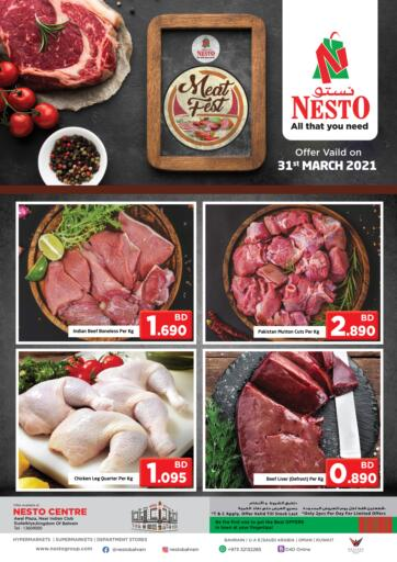Bahrain NESTO  offers in D4D Online. Meat Fest. . Only On 31st March