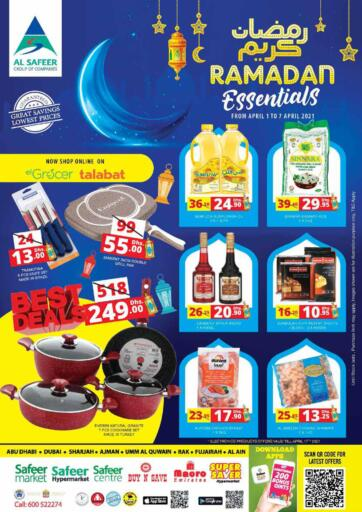 UAE - Abu Dhabi Safeer Hyper Markets offers in D4D Online. Ramdan Kareem. . Till 8th April
