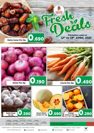 Bahrain NESTO  offers in D4D Online. Fresh Deals. Fresh Deals @ NESTO!! Get Unbelievable Discounts On Fresh Fruits& Veggies & Much More At Nesto. Avail This Offer Till 14th April! Hurry Now!! Have a Good Shopping!!. Till 14th April