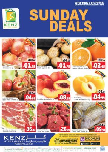 UAE - Sharjah / Ajman Kenz Hypermarket offers in D4D Online. Sunday Deals. . Only On 4th April