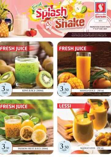 Qatar - Al-Shahaniya Safari Hypermarket offers in D4D Online. Fresh Splash & Shake. . Till 4th August