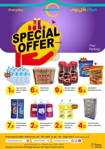 UAE - Sharjah / Ajman Everyday Center offers in D4D Online. Special Offers. Special Offers Now Availed At Everyday Center. Offer Valid Till 05th October 2021.  Enjoy Shopping!!!. Till 5th October