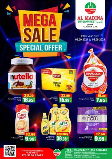 UAE - Fujairah Al Madina Supermarket LLC offers in D4D Online. Gurfa-Fujairah. . Till 4th September