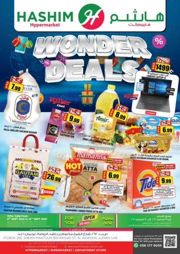 UAE - Sharjah / Ajman Hashim Hypermarket offers in D4D Online. Wonder Deals. Wonder Deals Are Waiting For You At Hashim Hypermarket.Get Your Products At Exiting Offer.Valid Till 12th September 2021.  Enjoy Shopping!!!. Till 12th September