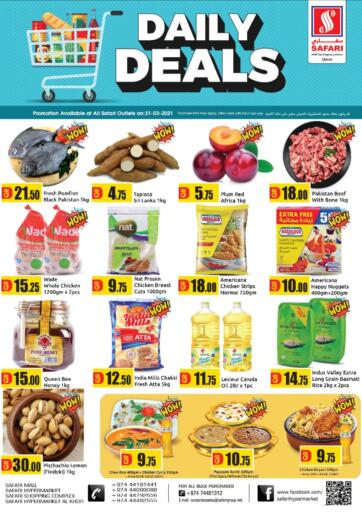 Qatar - Al Wakra Safari Hypermarket offers in D4D Online. Daily Deals. . Only On 31st March