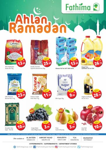 UAE - Abu Dhabi Fathima Hypermarkets & Supermarkets offers in D4D Online. Ahlan Ramadan. . Till 3rd April