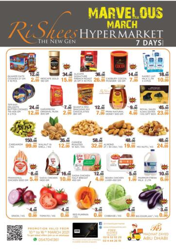 UAE - Abu Dhabi Rishees Hypermarket offers in D4D Online. Marvellous March. . Till 16th March