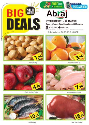UAE - Sharjah / Ajman Abraj Hypermarket offers in D4D Online. Midweek Big Deals @ Al Taawun. . Till 06th October