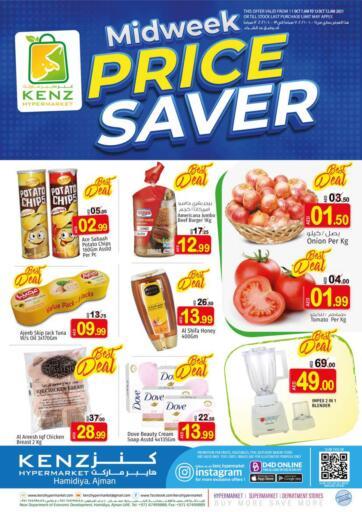 UAE - Sharjah / Ajman Kenz Hypermarket offers in D4D Online. Midweek Price Saver. . Till 12th October