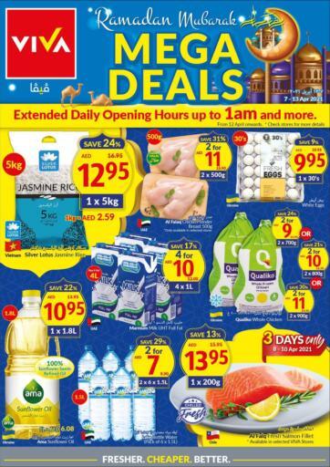 UAE - Dubai Viva Supermarket offers in D4D Online. Mega Deals. . Till 13th April