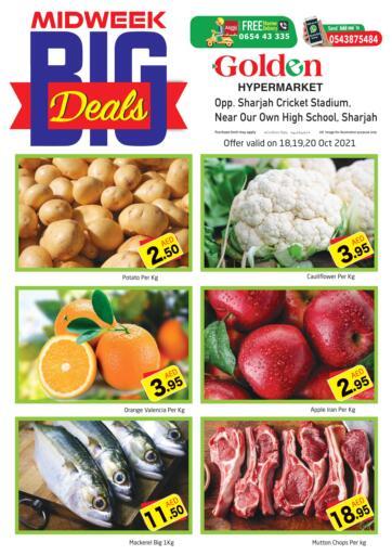 UAE - Sharjah / Ajman Golden Hypermarket offers in D4D Online. Midweek Big Deals. . Till 20th October
