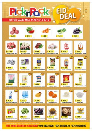 Qatar - Al Khor Pick n Pack offers in D4D Online. Eid Deal. Eid Deal Offer Are Available At Pick n Pack. Offers Are Valid Till  15th May. Enjoy Shopping!!. Till 15th May