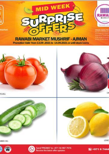 UAE - Sharjah / Ajman Rawabi Market Ajman offers in D4D Online. Mushrif - Midweek Surprise Offers. Midweek Surprise Offers Now From Rawabi Market. Offer Valid Till 14th September 2021.  Enjoy Shopping!!!. Till 14th September